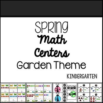 Kindergarten Spring Differentiated Math Centers