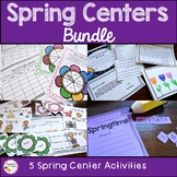 First Grade Spring Literacy Centers Bundle
