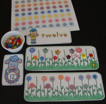 Flower Centers Spring Activities Garden Literacy Math Fine Motor Thematic