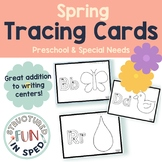 Spring Centers Tracing Cards for Preschool, Pre-k, Special Needs
