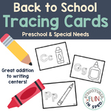 Back to School Centers Tracing for Preschool, Pre-k, and Special Needs