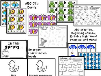 Spring Centers and Activities for Pre-K/Kindergarten