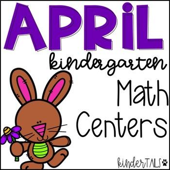 Spring Math Centers for Kindergarten {April}