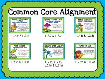 Spring Centers for the Second and Third Kiddos (6 Common Core Language Centers)