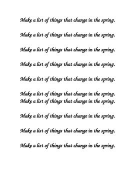Spring Changes Journal Prompt