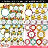 Spring Character Spinners Spring Clip Art Bundle