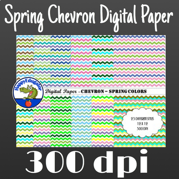 Spring Chevron Digital Paper