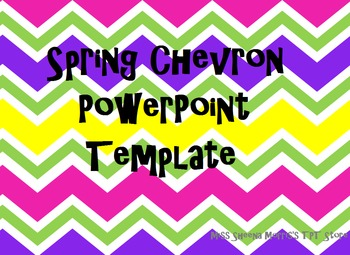 Spring Chevron PowerPoint Template