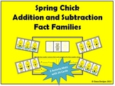 Spring Chick Addition and Subtraction Fact Families