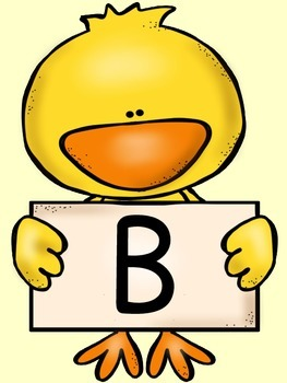 Spring Chick Alphabet Letter Posters / Word Wall Letter Labels