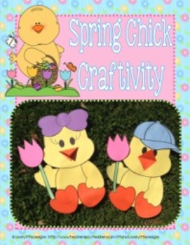Spring Chick Craftivity for Boy or Girl Chick with Writing