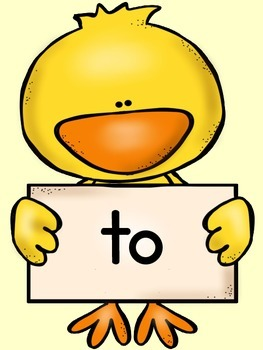 Spring Chick Dolch Pre-Primer Sight Word Posters and Flashcards