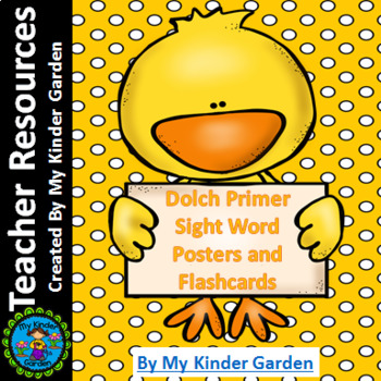 Spring Chick Dolch Primer High Frequency Sight Word Posters and Flashcards