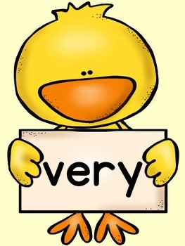Spring Chick Dolch Second Grade Sight Word Posters and Flashcards
