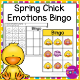 Spring Chick Emotions and Feelings Bingo