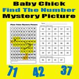 Spring Chick Find The Number Sheet - 11x17 - Easter / Spring