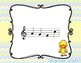 Spring Chick - Interactive Practice Game for Notation {re} 5 line staff