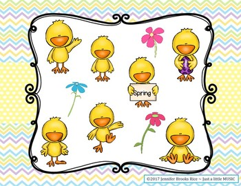 Spring Chick - Interactive Practice Game for Notation {sol mi} 3 line staff