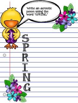 Spring Chick Language Arts Activities