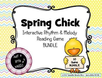 Spring Chick - Rhythm & Melody Reading Practice Game BUNDLE
