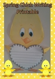 Spring Chick Writing Printable