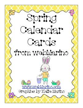 Spring Chick and Bunny Calendar Cards