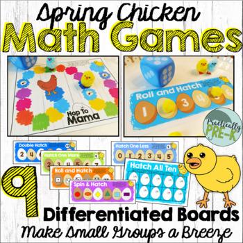 Spring Chicken Math Games: Roll & Hatch, Hatch All 10, & Hop To Mama