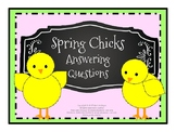 Spring Chicks Answering Questions (Print and No-Print Versions)