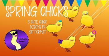 Spring Chicks Clip Art Clipart