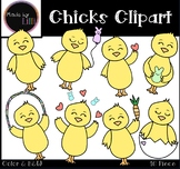 Spring Chicks Clipart - Easter Chicks Clipart