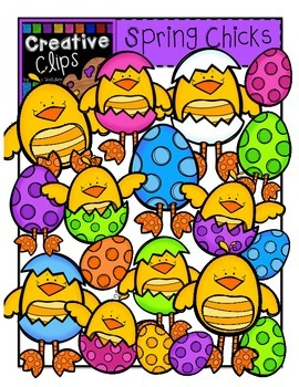 Spring Chicks: Spring Clipart {Creative Clips Digital Clipart}