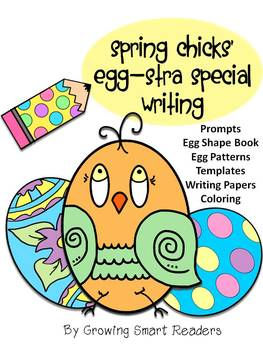 Spring Egg Patterns, Writing Prompts, Shape Book