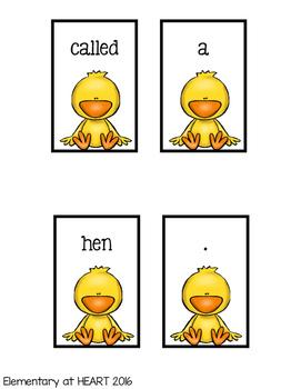 Spring Chicks Sentence Scramble