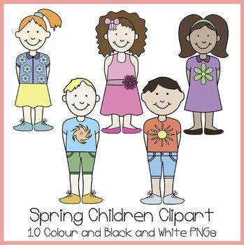 Spring Children Clipart