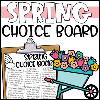 Spring Choice Board - Morning Work or Early Finisher Activities