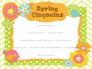 Spring Cinquain Template