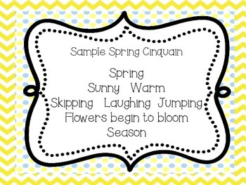 Spring Cinquain Poem and Craft Freebie