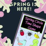 Spring Circle Time Shape Game