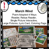 March Interactive, Spring Circle time Poem The March Wind Differentiated