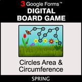 Spring: Circles Area & Circumference - Digital Board Game