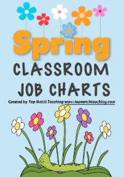Spring Classroom Job Charts