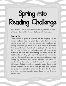 Spring Classroom Reading Challenge