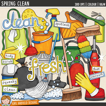 Spring Cleaning / Chores Clip Art
