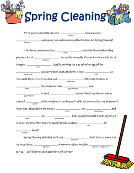 Spring Cleaning: A Springtime Madlib