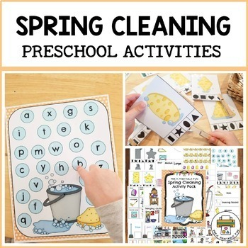 Spring Cleaning Activities for Pre-K, Preschool and Tots