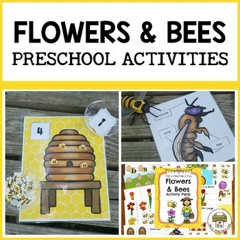 Flowers and Bee Themed Activities for Pre-K, Preschool and Tots