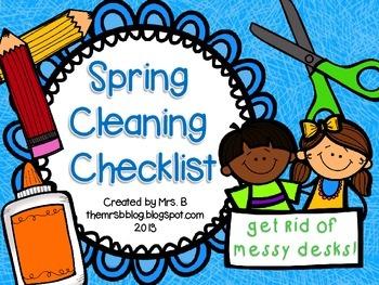 Spring Cleaning Checklist {FREEBIE!}