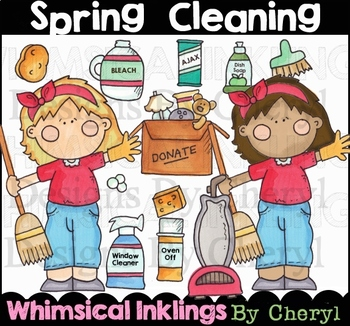 Spring Cleaning Clipart Collection