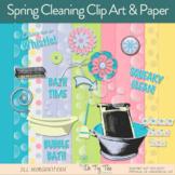 Spring Cleaning Digital Scrapbooking, Clip Art, Bulletin Board