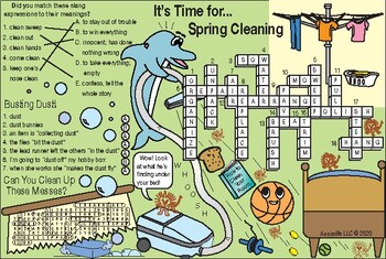 Spring Cleaning Two-Page Activity Set
